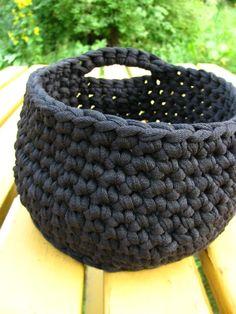 Hupsista! Siitähän tuli...basket to store some knitting