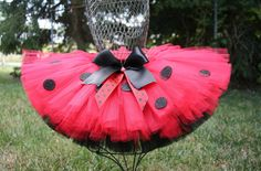 Lydia the Ladybird Tutu, Sewn Custom Two Layer Ladybug Tutu, SZ NB - 2. $24.00, via Etsy.