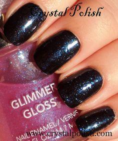 Revlon Glimmer Gloss : Grape Shimmer over black