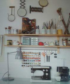 Via Flea Market Decor.   love the organization, great craft corner