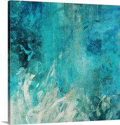 """""""Aqua Falls"""" by Jodi Maas via @greatbigcanvas #canvasprint #tealart"""