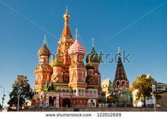St. Basil Cathedral, Red Square, Moscow - stock photo