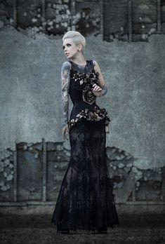 Photographer: Richard Pryde Designer: Adolfo Sanchez Corset: Fiori Couture Makeup: Kimberly Young Model: Sara X