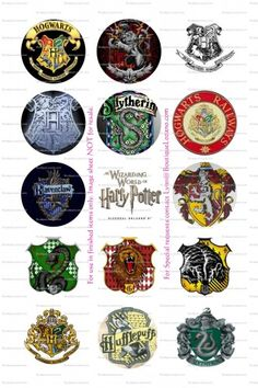 harry potter hogwarts bottlecap images | QtImages4U - Graphics on ArtFire