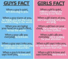 guy fact/girl fact