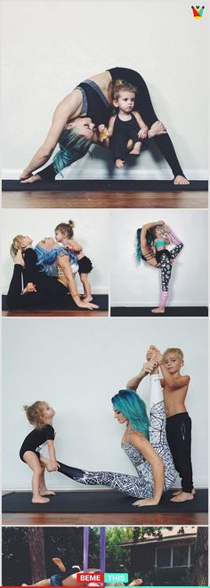 This Mom Strikes Amazing Yoga Poses With Her Kids - bemethis #yogainspiration #yoga #charitygrace #instagramers
