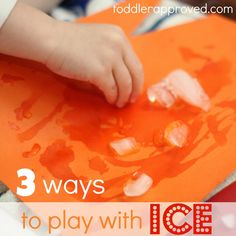 Fun with ice! We tried painting with ice & had a blast. Love these ideas for playing with ice.
