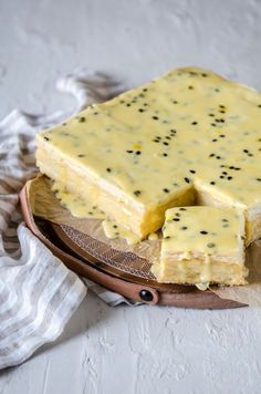 What could be better than a creamy vanilla custard slice. Ours is a Madagascan Vanilla Custard sandwiched between layers of flaky butter puff pastry and Easy Smoothie Recipes, Good Healthy Recipes, Sweet Recipes, Snack Recipes, Dessert Recipes, Desserts, Custard Slice, Vanilla Custard, Butter Puff Pastry