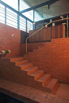 Brick steps.