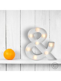 Alphabet Letter Shaped Wall Hanging With Warm White LED Lights