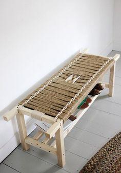 Retapizar muebles con hilo sisal banqueta