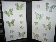 butterflies cut from maps