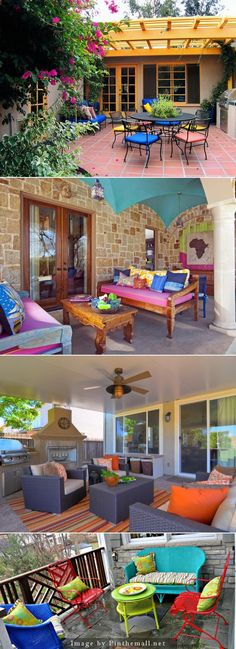 Make your patio pop with color