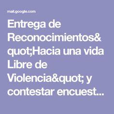 """Entrega de Reconocimientos""""Hacia una vida Libre de Violencia"""" y contestar encuesta - francisco.tame@utpuebla.edu.mx - Correo de Universidad Tecnológica de Puebla"""