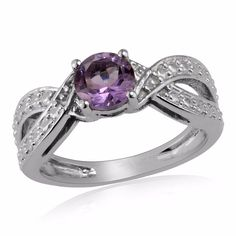 Natural Pink Amethyst 925 Sterling Silver Solitaire Ring Valentine Gift Jewelry #Unbranded #Solitaire #ValentinesDay