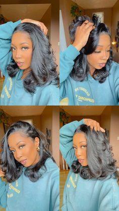 Baddie Hairstyles, Black Girls Hairstyles, Weave Hairstyles, Pretty Hairstyles, Straight Hairstyles, Curly Hair Styles, Natural Hair Styles, Hair Laid, Aesthetic Hair