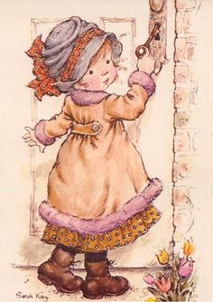 Hobby Noiva E Madrinhas Verde - - - Hobby English Lesson - Sarah Key, Holly Hobbie, Cute Images, Cute Pictures, Creation Art, Vintage Drawing, Australian Artists, Illustrations, Cute Illustration