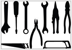 Tools Silhouette Clip Art Pack -- $5 from the Silhouette store.