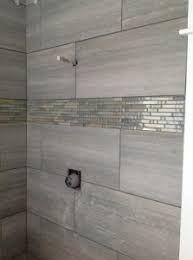Image Result For Horizontal Accent Tile In Shower Bathrooms Remodel Tile Bathroom Half Bathroom Remodel