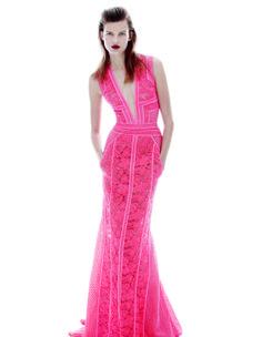 Ad Campaign: J. Mendel Spring/Summer 2014 Model: Bette Franke Photographer: Daniel Jackson Hot Pink Dresses, Nice Dresses, Awesome Dresses, Bette Franke, Daniel Jackson, Purple Fashion, Dress Me Up, Spring Summer, Summer 2014