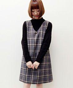 チェックウールジャンパースカート(ワンピース)|archives(アルシーヴ)のファッション通販 - ZOZOTOWN