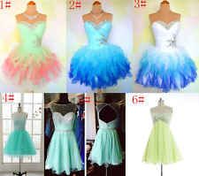 New 6Style Mini Homecoming Cocktail Dresses Short Prom Dress Party Ball Size4-16