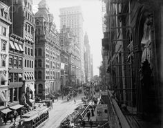 New York - turn of the century New York Times, Old Photos, Vintage Photos, Oh The Places You'll Go, Places To Visit, Vintage New York, Daguerreotype, Lower Manhattan, New York City