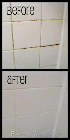 Clean Tile Grout With This Homemade Grout Cleaner - Practically Functional