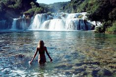 krka national park in Croatia. Great general travel tip: Get up as early as you can to be the first to arrive at the attractions. Krka National Park Croatia, Places To Travel, Places To See, Croatia Travel, Beautiful Waterfalls, Dream Vacations, Travel Inspiration, National Parks, Adventure