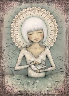 Leanne Ellis Art: Illustration Friday - Messenger