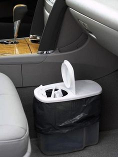 A large plastic storage container can serve as the best car trash can! #DIY #LifeHacks