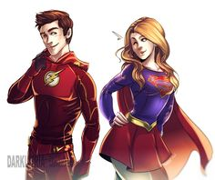 ... as far as we know, Supergirl's world has no speedsters. Description from forums.superherohype.com. I searched for this on bing.com/images