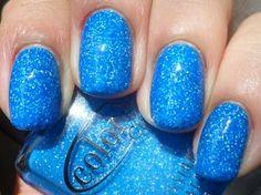 manicure nails neon blue nail polish