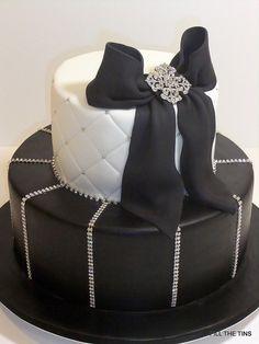 Black  White Bling Cake