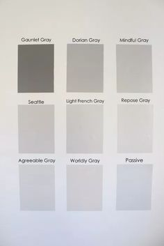 Nine Gray Paint Colors We Put to the Test for Your Home - Within the Grove Light Grey Paint Colors, Warm Gray Paint, Best Gray Paint Color, Grey Wall Color, Behr Paint Colors, Light Grey Walls, Interior Paint Colors, Paint Colors For Home, Neutral Paint