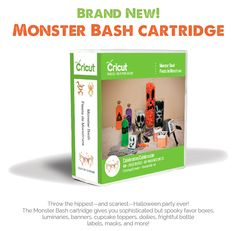 Come grab the just released Monster Bash Cricut cartridge for just $24.99!