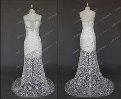 mermaid wedding dresses lace wedding dresses by sofitdress on Etsy, $229.00
