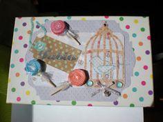 Scrapbooking- love the bird cage