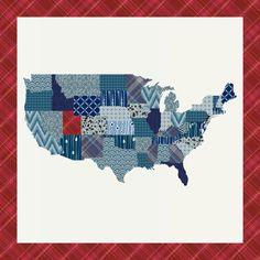 My State in America Quilt Top-cheater quilt top that is customizable!  Get out... too cool.