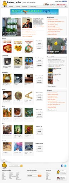 Website 'http://www.instructables.com/' snapped on Snapito!
