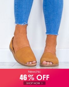 Solid Color Peep Toe Sandals is comfortable to wear. Shop on NewChic to see other cheap women sandals on sale. Trendy Sandals, Cheap Sandals, Sandals For Sale, Wedge Sandals, Shoes Sandals, Shopping Online, Peep Toe, Flat Wedges, Youth Shoes