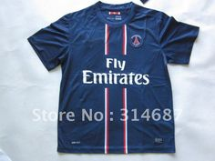 New Arrival 12/13 Top Thailand Quality Paris St Germain Home Soccer jersey blue,mix order any team,any size on AliExpress.com. $95.00