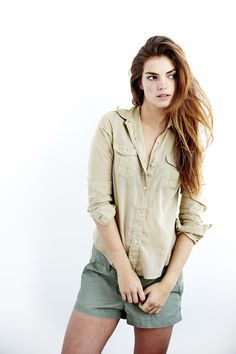 Safari Button Down in Khaki from Faherty Brand