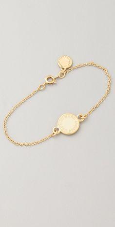 Simple Logo Enamel Disk / Marc Jacobs #bracelet #jewelry
