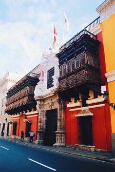 Balconies of Lima, Peru