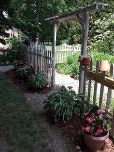 Love my picket fence garden
