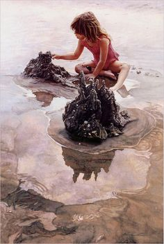 Steve Hanks 'Castles in the Sand' c.2000, watercolor