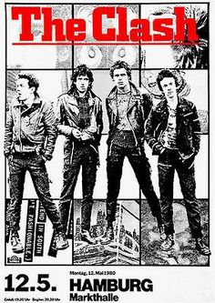 "A concert poster for The Clash at the Markthalle, Hamburg Germany on their ""London Calling"" tour of This beauty measures a large 23 x Rock Posters, Band Posters, Joe Strummer, Ozzy Osbourne, The Clash, Rock And Roll, Cover Art, Punk Poster, Vintage Concert Posters"