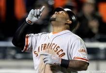Pablo Sandoval , baseball, Gigantes de San Francisco superó récord de Víctor Martínez con 16 partidos seguidos con hit