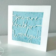 In this tutorial, you'll learn how to cut out text that flows as though it's written by hand - and you'll make a unique greetings card in the process. It's got a very sweet message so you'll be able to make it time and again. Let's get started. | Difficulty: Beginner; Length: Long; Tags: Paper Crafts, Paper, Decorations, Scalpel